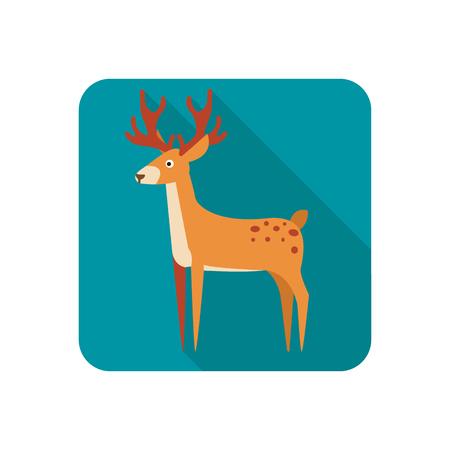Deer color flat icon Illustration