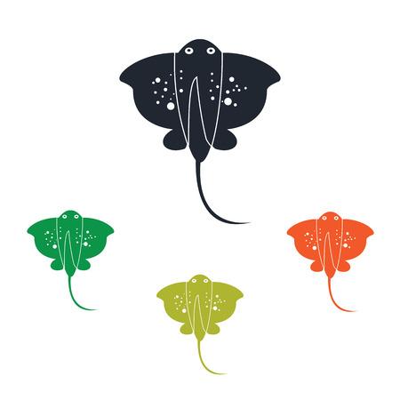 stingray: Stingray icon Illustration