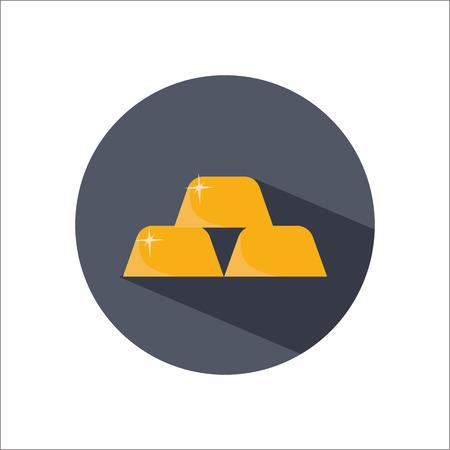 bullion: Gold bullion color flat icon