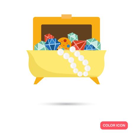 jewel box: Box with jewel color lfat icon