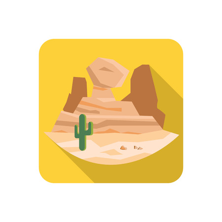 Great canyon color flat icon Illustration