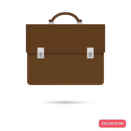 Business Aktentasche Farbe flach Symbol