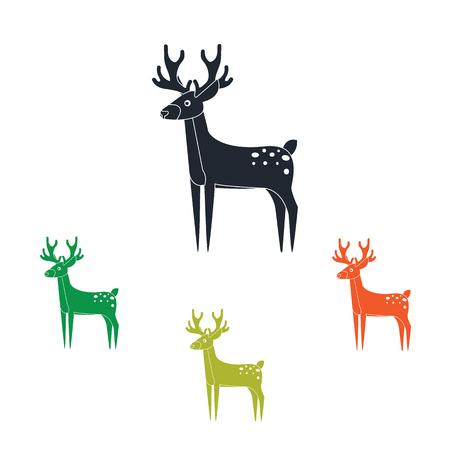 hoofed mammal: Deer icon Illustration