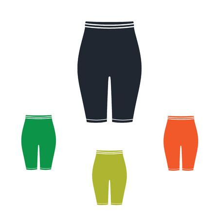 leggings: Female sport short leggings icon