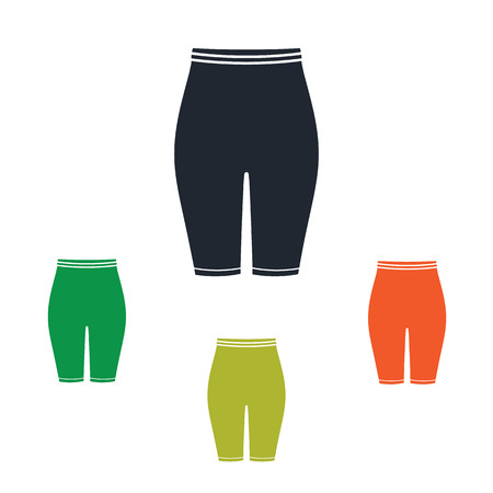 Female sport short leggings icon