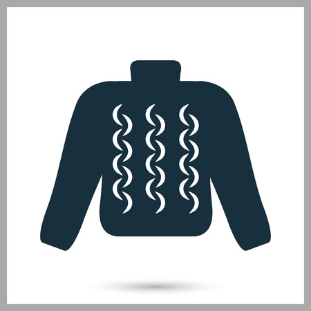 knitted: Male knitted sweater icon Illustration