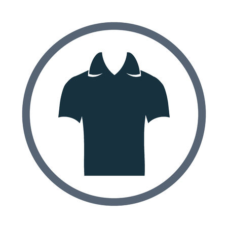 collarin: Male shirt with collar icon