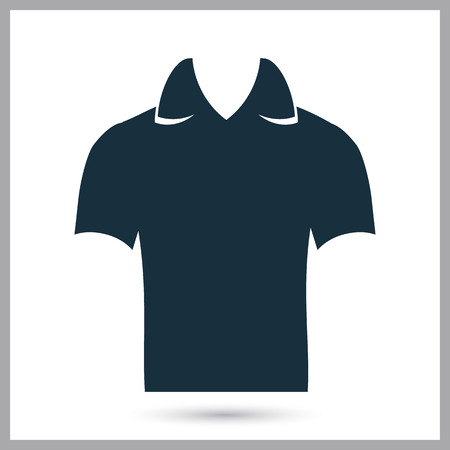 collar: Male shirt with collar icon