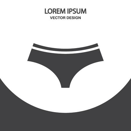 panties: Female panties icon