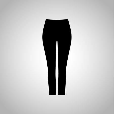 lady shopping: Female tight pants icon Illustration