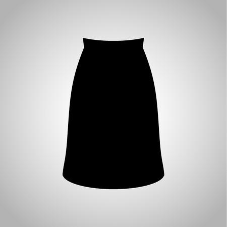 long skirt: Female long skirt icon