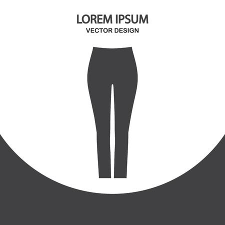Female tight pants icon Ilustração