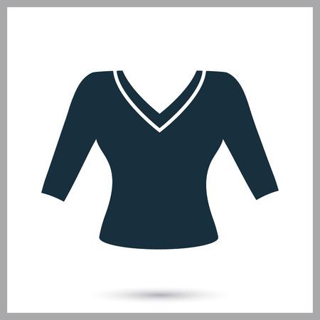 blusa: icono de la blusa femenina