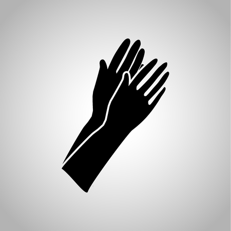 tight: A pair of female gloves icon Illustration