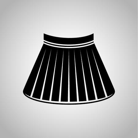 falda corta: Icono femenino falda corta Vectores