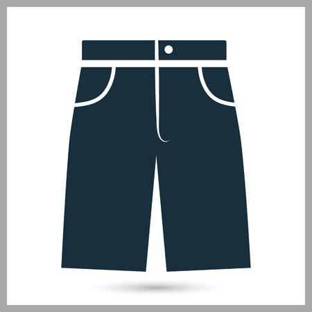 shorts: Male shorts icon Illustration