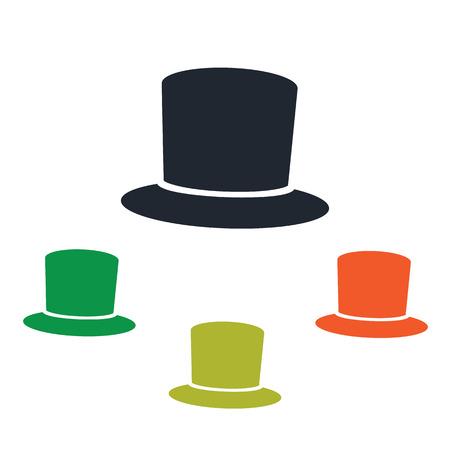 silk hat: Male silk hat icon Illustration