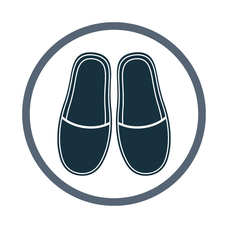 slippers: Home slippers icon Illustration