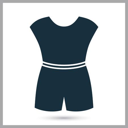 overol: icono de los guardapolvos femeninos Vectores