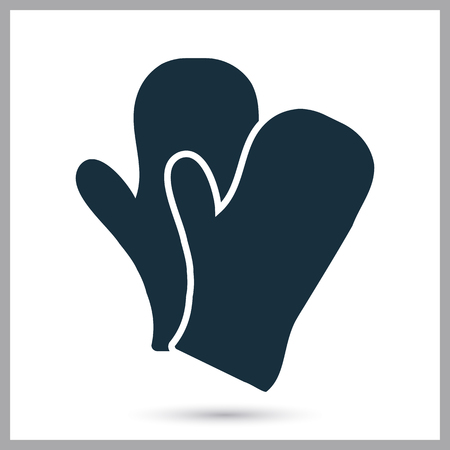 mittens: A pair of winter mittens icon