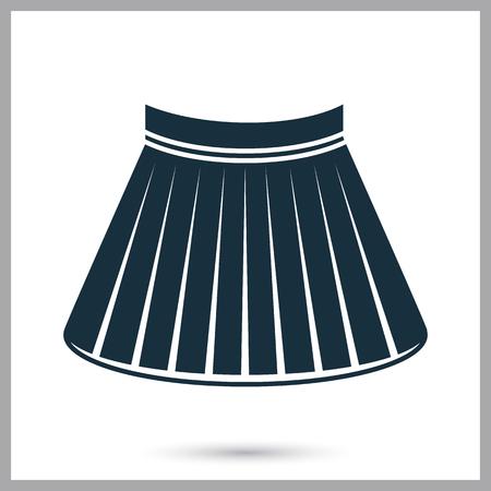 falda corta: Female short skirt icon