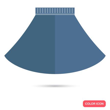 falda corta: Fenmale icono plano corto color de la falda