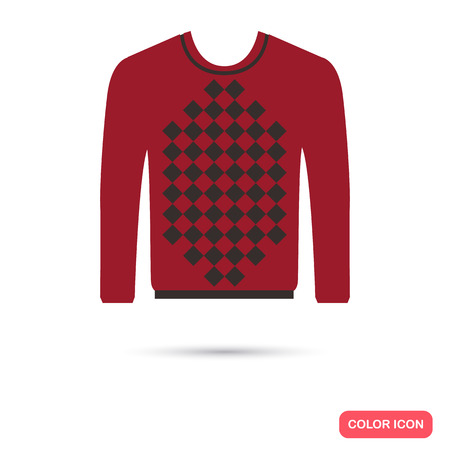 sueter: Male sweater color flat icon