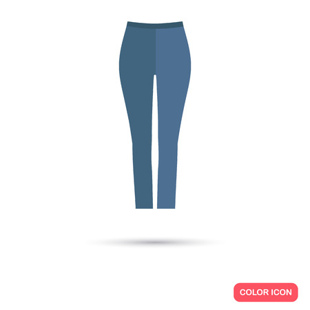 Female tight pants color flat icon