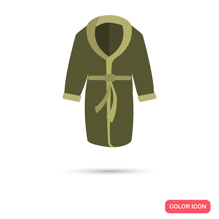 bathrobe: Home bathrobe color flat icon