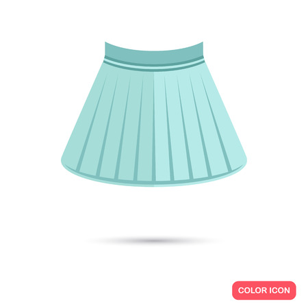 falda corta: Female short skirt color flat icon