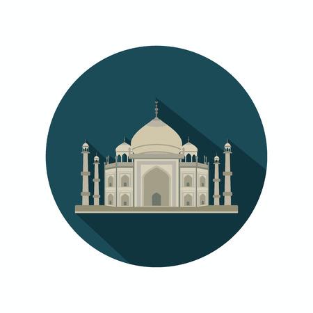 the taj mahal: Taj Mahal color icon. Flat design