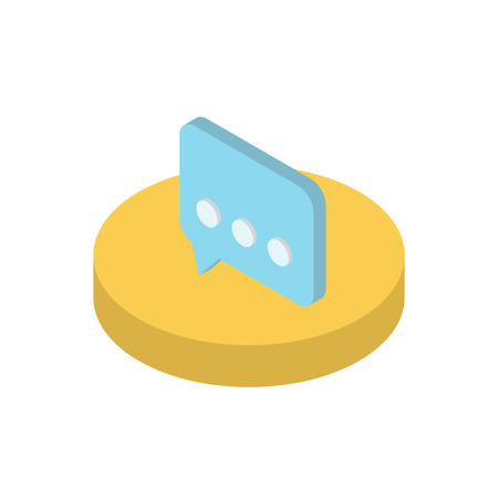 functionality: Isometric icon message functions in a mobile phone. Modern isometric concept Illustration