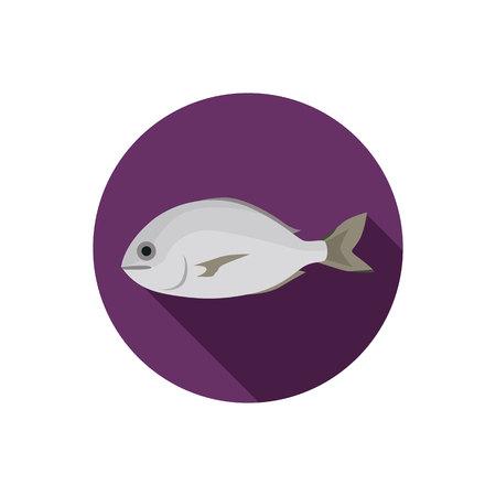 dorado fish: Dorado fish color flat icon