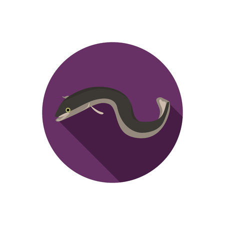 eel: Eel fish color flat icon