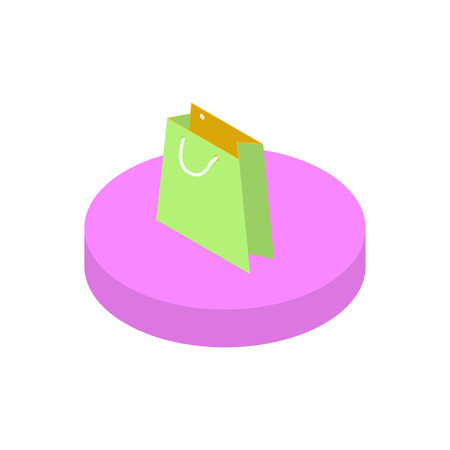 functionality: Isometric icon purchase goods functions in a mobile phone. Modern isometric concept Illustration