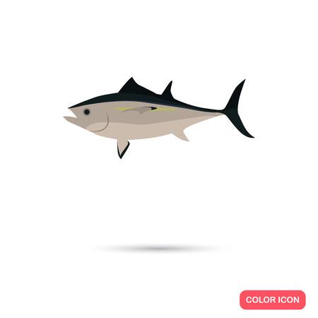 Tuna color flat icon Illustration
