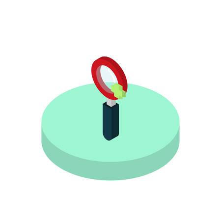 inquiry: Isometric icon find information functions in a mobile phone. Modern isometric concept