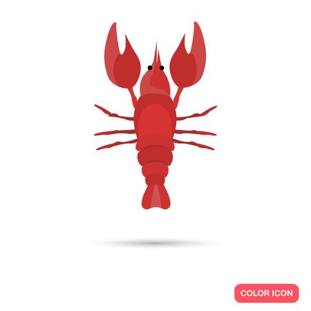Lobster color flat icon Illustration