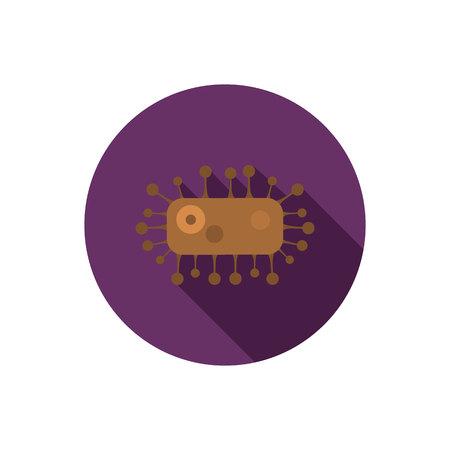 micro organism: Virus color flat icon