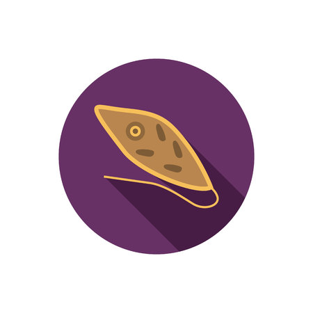 vital: Germ color flat icon Illustration