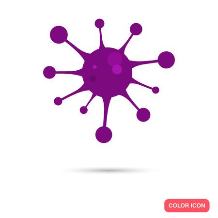 signos vitales: Virus de color icono plana