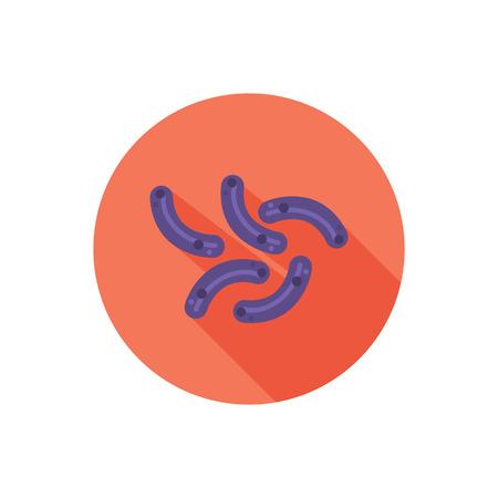 micro organism: Germ color flat icon Illustration