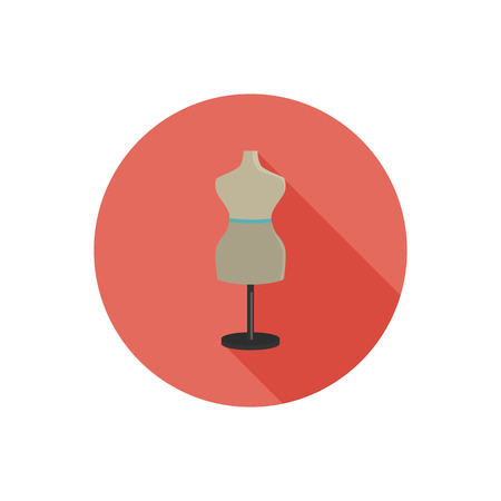 Sawing mannequin color flat icon