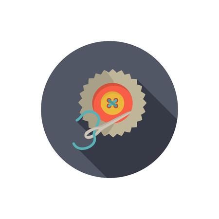 sewn: Sewn button color flat icon