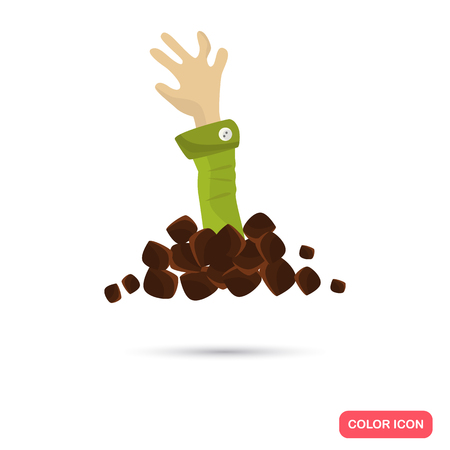 artoon: Color resurrection dead man hand in Cartoon style. Stock Vector icon. Illustration for web and mobile design Illustration