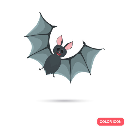 artoon: Color cute bat in Cartoon style. Stock Vector icon. Illustration for web and mobile design Illustration