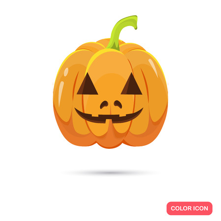 artoon: Color Halloween pumpkin in Cartoon style. Stock Vector icon. Illustration for web and mobile design
