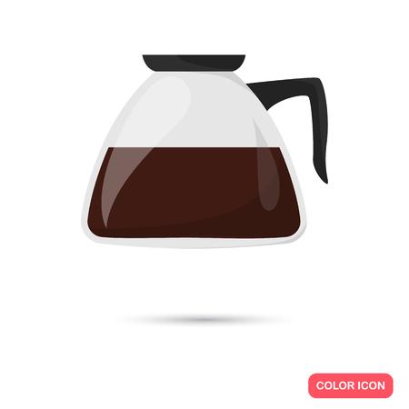 Color flat coffe ready icon. Flat design
