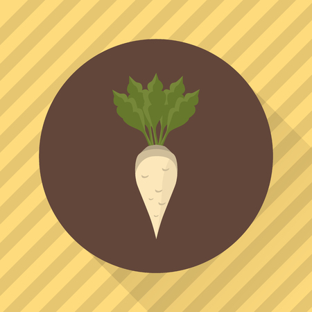 Sugar beet agriculture crop. Color flat icon Stock fotó - 64756830