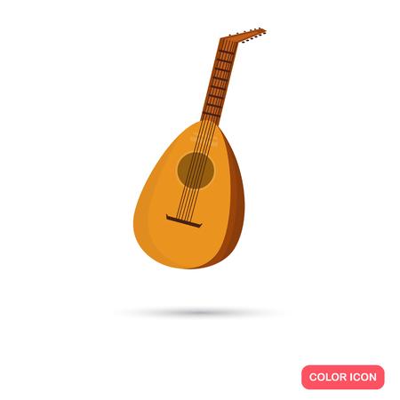 chord: Mandalina music instrument. Color flat icon